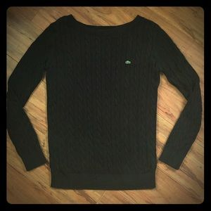 Lacoste Cable Knit Cotton Sweater